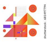 trendy geometrical vector... | Shutterstock .eps vector #681497794