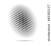 halftone dots that makes a... | Shutterstock .eps vector #681502117