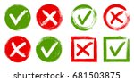 tick and cross test signs ... | Shutterstock .eps vector #681503875