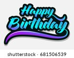happy birthday   typography  ...
