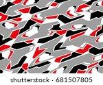 camouflage pattern. vector... | Shutterstock .eps vector #681507805