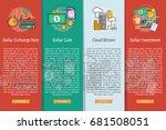 currencies vertical banner... | Shutterstock .eps vector #681508051