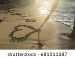 Girl Drawing A Heart On The...