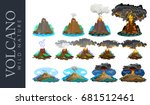 a set of volcanoes of varying...