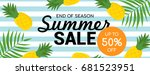 summer sale banner vector... | Shutterstock .eps vector #681523951
