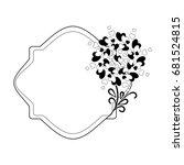 elegant black and white frame... | Shutterstock .eps vector #681524815
