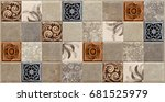 wall tiles marble pattern  ... | Shutterstock . vector #681525979