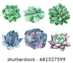 Colorful Floral Set Watercolor...