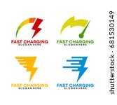 set of fast charging logo... | Shutterstock .eps vector #681530149