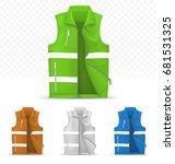 unisex reflective vest isolated ... | Shutterstock .eps vector #681531325