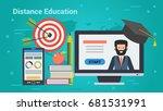 vector concept distance... | Shutterstock .eps vector #681531991