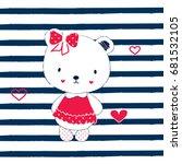 cute teddy bear cartoon  teddy...   Shutterstock .eps vector #681532105