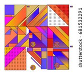 trendy geometrical vector