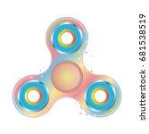 hand fidget spinner toy. galaxy ... | Shutterstock .eps vector #681538519