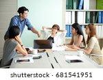 business cocept   employees... | Shutterstock . vector #681541951