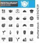 restaurant vector icons set ... | Shutterstock .eps vector #681542929