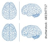 brains medical info graphics.... | Shutterstock .eps vector #681547717