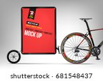 bicycle. mobile billboard. mock ... | Shutterstock .eps vector #681548437