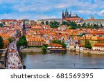 czech republic. city of prague. ... | Shutterstock . vector #681569395