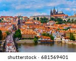 czech republic. city of prague. ... | Shutterstock . vector #681569401