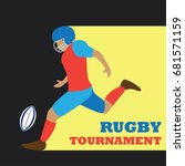 american football   rugby...   Shutterstock .eps vector #681571159