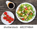 delicious grilled zucchini  ...   Shutterstock . vector #681574864