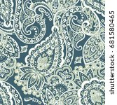 seamless paisley pattern in... | Shutterstock .eps vector #681580465