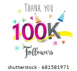 thank you design template for... | Shutterstock .eps vector #681581971