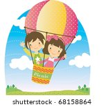 enjoy picnic and happy days... | Shutterstock .eps vector #68158864
