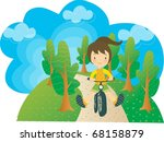 enjoy picnic and happy days... | Shutterstock .eps vector #68158879