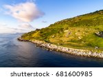 the eastern coast of northern... | Shutterstock . vector #681600985