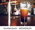 frothy sparkling nitro cold... | Shutterstock . vector #681604624