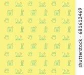 yellow vector christmas pattern ...   Shutterstock .eps vector #681612469