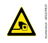 triangle yellow warning sign....   Shutterstock .eps vector #681619819