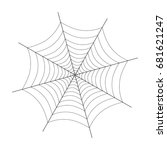 spider web illustration on white | Shutterstock .eps vector #681621247