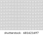 abstract halftone backdrop in... | Shutterstock . vector #681621697