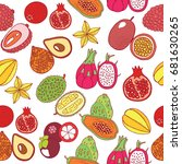 seamless hand drawn pattern... | Shutterstock .eps vector #681630265