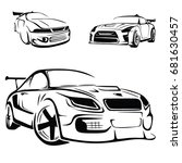 sport car vector | Shutterstock .eps vector #681630457