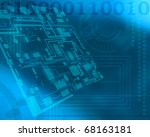 modern technology background... | Shutterstock . vector #68163181
