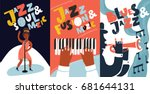 vector colorful set of poster... | Shutterstock .eps vector #681644131