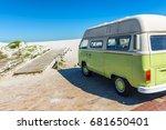 bloubergstrand   cape town ... | Shutterstock . vector #681650401