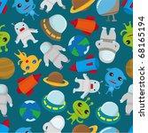 seamless space pattern | Shutterstock .eps vector #68165194