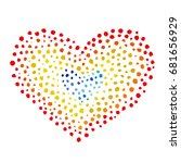 heart from bright dots on white ... | Shutterstock .eps vector #681656929