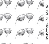 hand drawn illustration of... | Shutterstock .eps vector #681664159