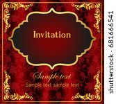 invitation and wedding cards.... | Shutterstock .eps vector #681666541