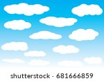 sky with clouds vector  clouds...   Shutterstock .eps vector #681666859