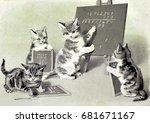 1906 Year. Vintage  Postcard...
