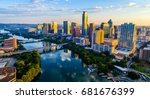 austin texas usa sunrise... | Shutterstock . vector #681676399