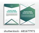 green abstract triangle theme... | Shutterstock .eps vector #681677971