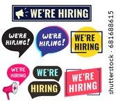 we're hiring. badge  icon  logo ...   Shutterstock .eps vector #681688615